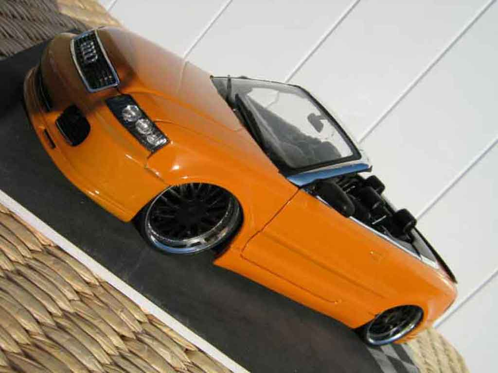 Audi A4 cabriolet 1/18 Welly turbo tuning orange kit techart jantes bbs miniature