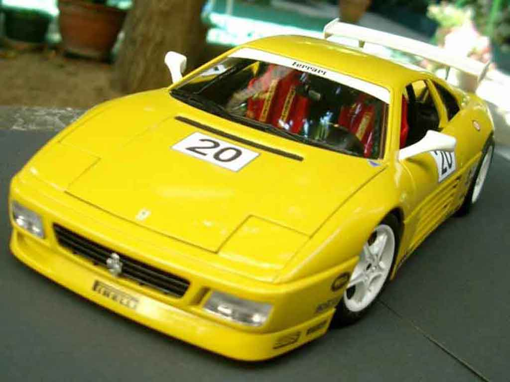 Ferrari 348 TB 1/18 Burago race car miniature