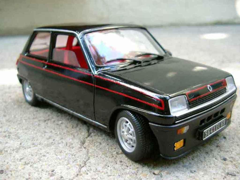 Renault 5 Alpine 1/18 Solido turbo schwarz modellautos