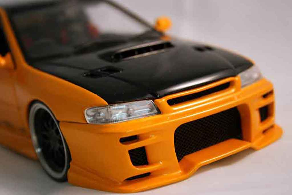 Subaru Impreza WRX Type R 1/18 Autoart gt turbo sti arancione miniatura