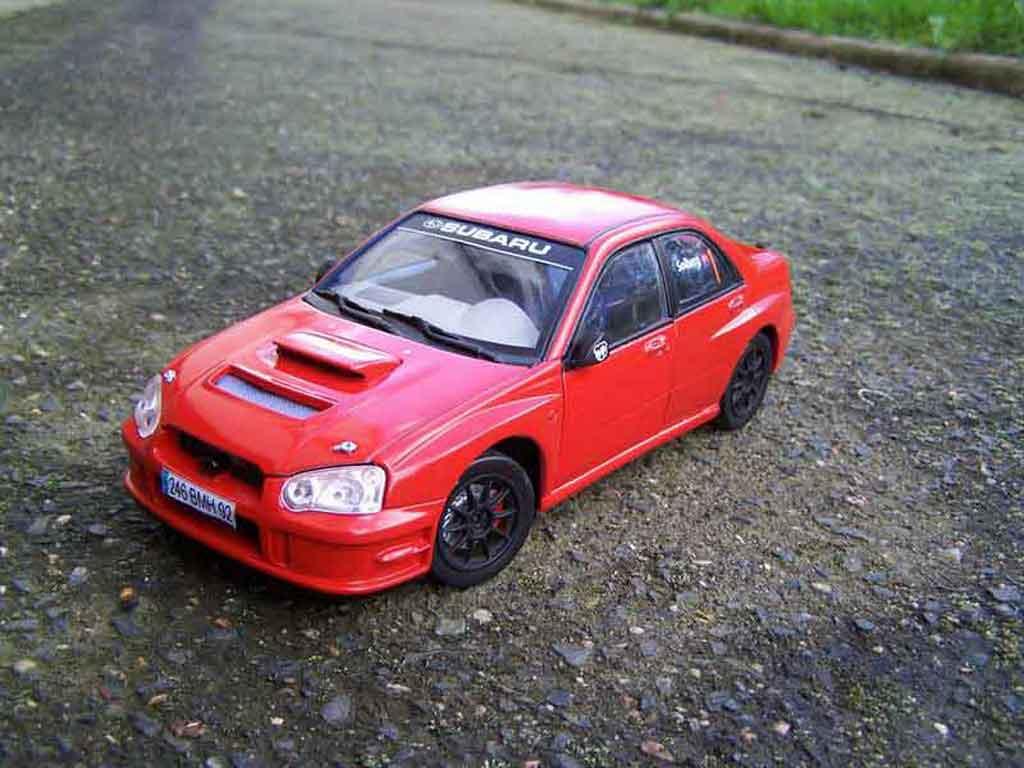 Subaru Impreza WRX 1/18 Solido 2005 rot jdm modellautos