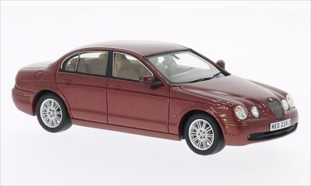 Jaguar S-Type 1/43 Neo metallic-rouge 2004 miniature
