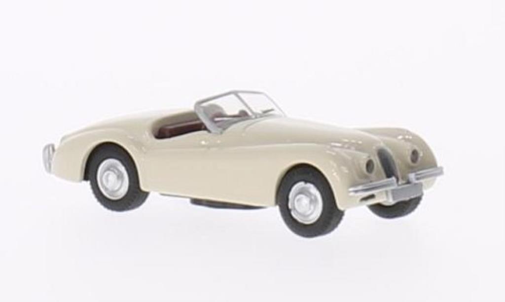 Jaguar XK 120 1/87 Schuco beige modellino in miniatura