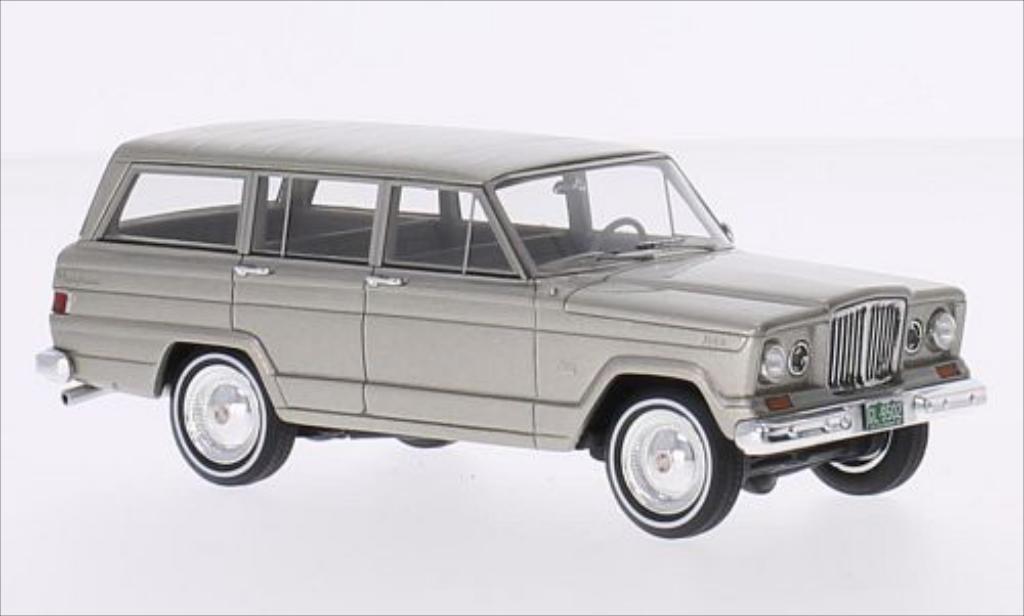 Jeep Wagoneer 1/43 GLM metallise beige 1962 miniature