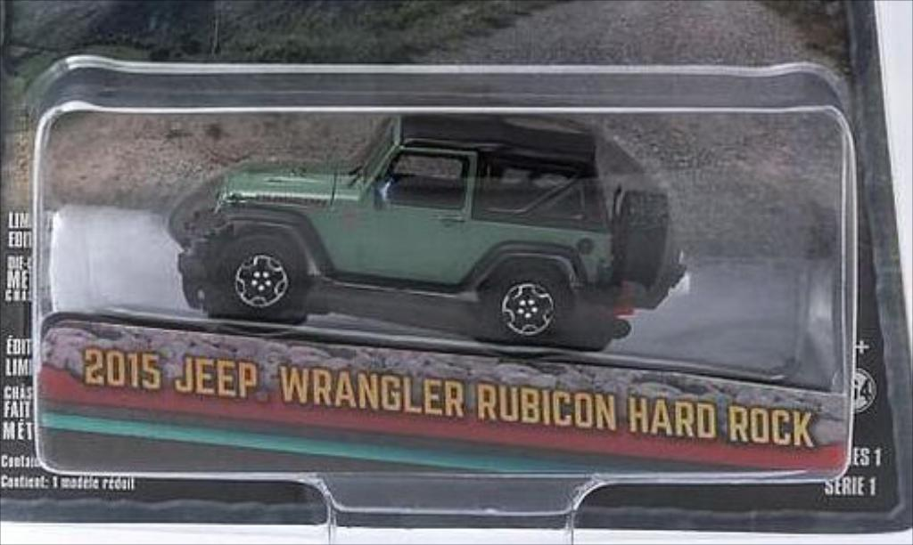 Jeep Wrangler 1/64 Greenlight verte/matt-noire 2015 miniature