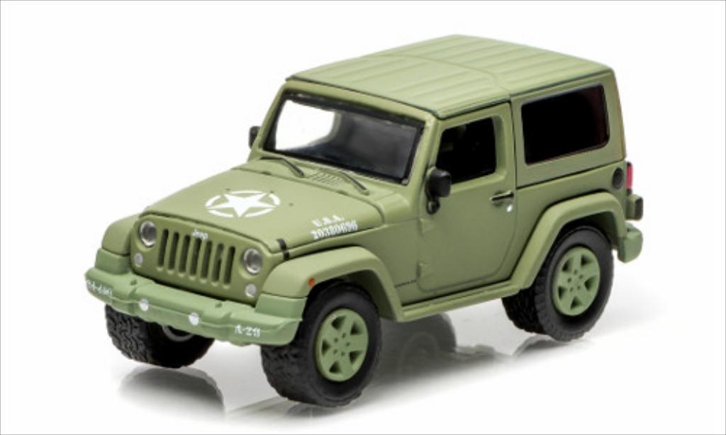 Jeep Wrangler 1/64 Greenlight Hard Top US Armee matt-oliv 2014 miniature