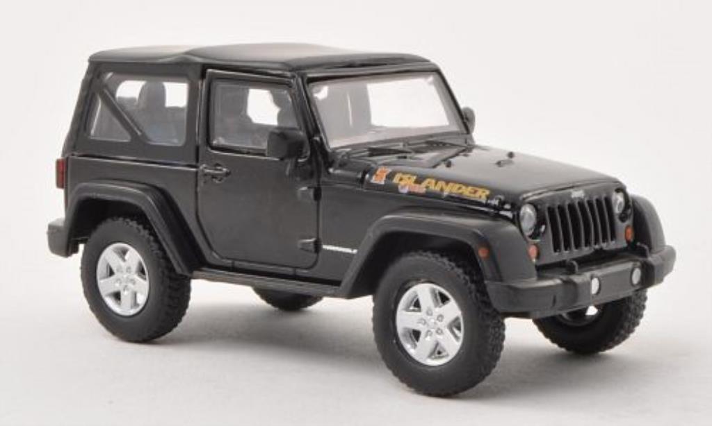 Jeep Wrangler 1/43 Greenlight Islander Edition noire 2010 miniature