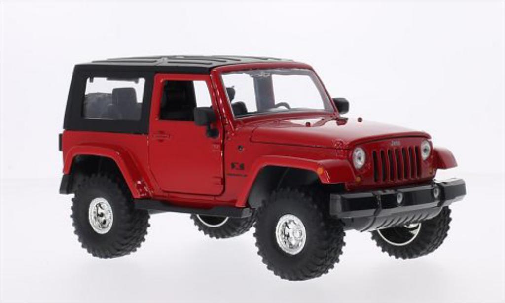 Jeep Wrangler 1/24 Jada Toys rouge/noire 2007 miniature