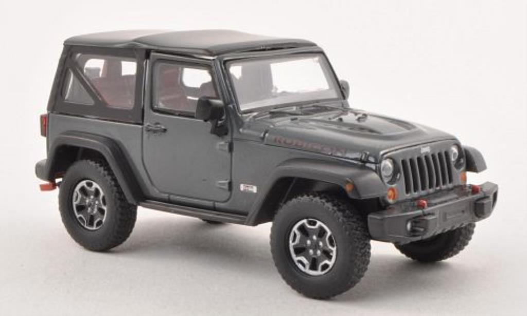 Jeep Wrangler 1/43 Greenlight Rubicon 10th Anniversary grise 2013 miniature