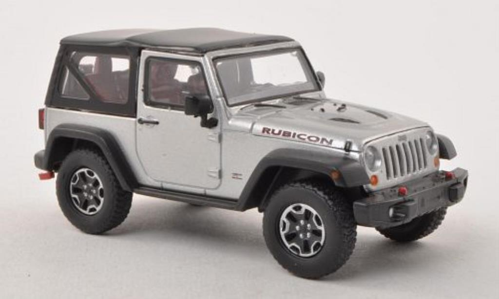 Jeep Wrangler 1/43 Greenlight Rubicon 10th Anniversary grise-grise 2013 miniature