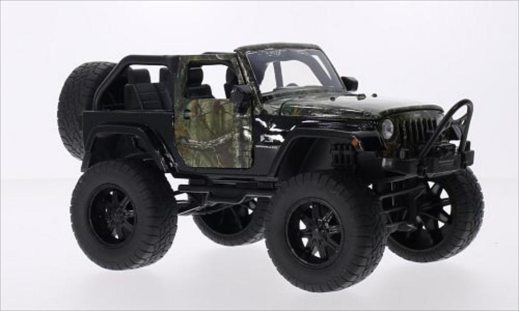Jeep Wrangler 1/24 Jada Toys Toys noire/Dekor 2007 miniature