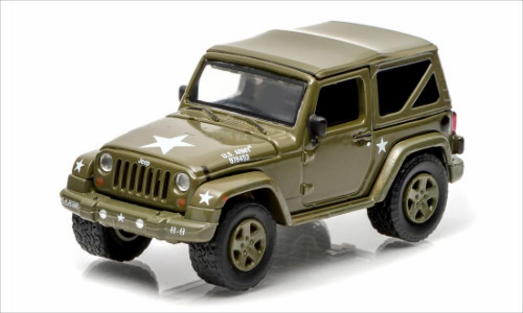 Jeep Wrangler 1/64 Greenlight Soft Top US Armee matt-oliv 2014 miniature