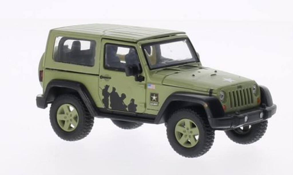 Jeep Wrangler 1/43 Greenlight US-Army matt-grun 2012 modellautos