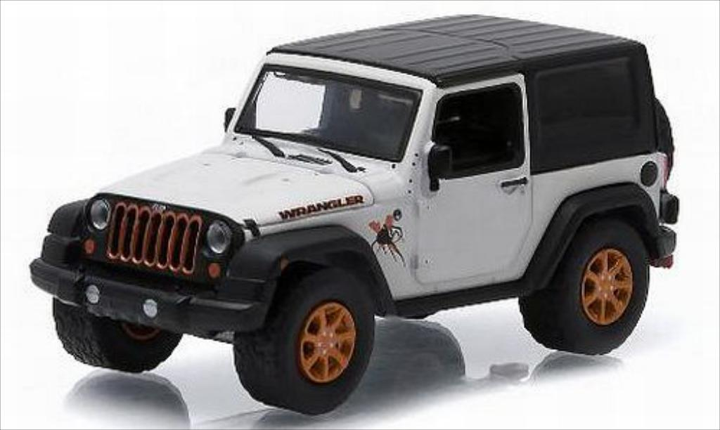 Jeep Wrangler 1/64 Greenlight blanche/Dekor 2012 miniature