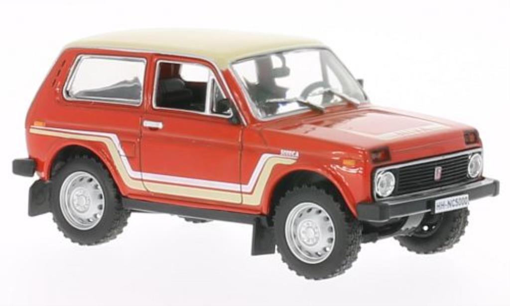 Lada Niva 1/43 WhiteBox California red/beige 1981 diecast