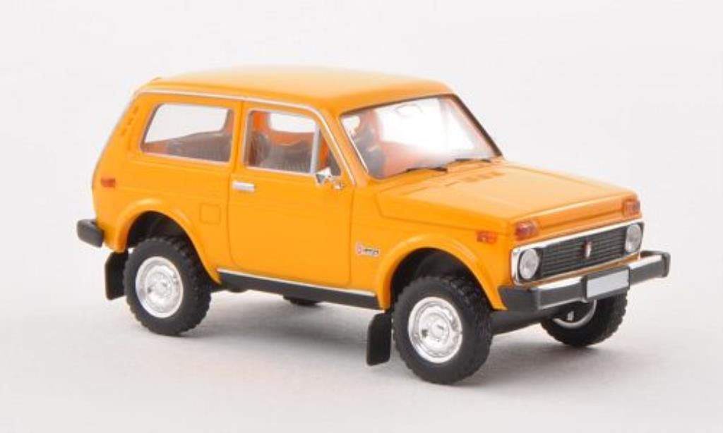 Lada Niva 1/87 Brekina jaune miniature