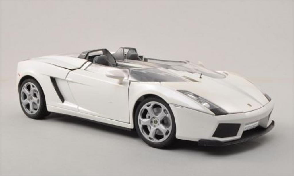 Lamborghini Concept 1/18 Motormax S metallise blanche miniature