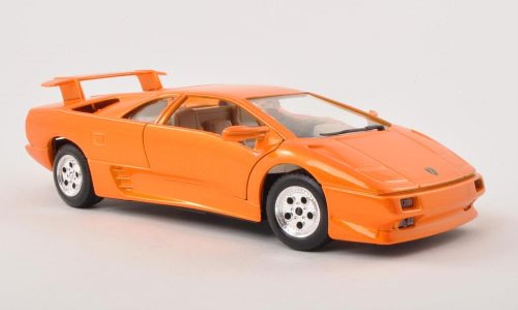 Lamborghini Diablo 1/24 Burago orange miniature