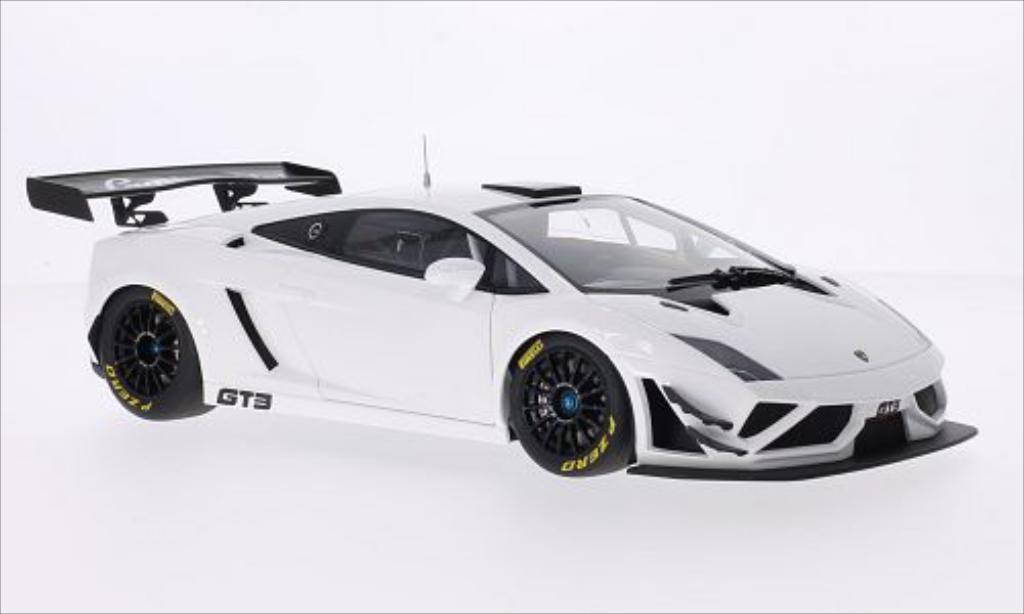 Lamborghini Gallardo 1/18 Autoart GT3 FL2 blanche 2013