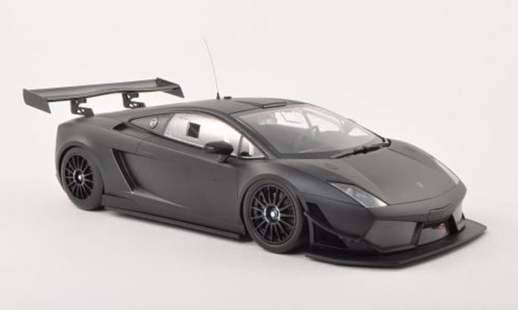 Lamborghini Gallardo 1/18 Minichamps LP 600+ GT3 matt-black Plain Body Version 2011 diecast