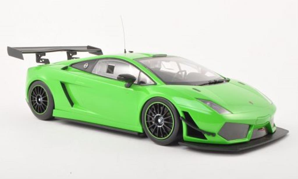 Lamborghini Gallardo 1/18 Minichamps LP 600+ Street verde 2011 miniatura