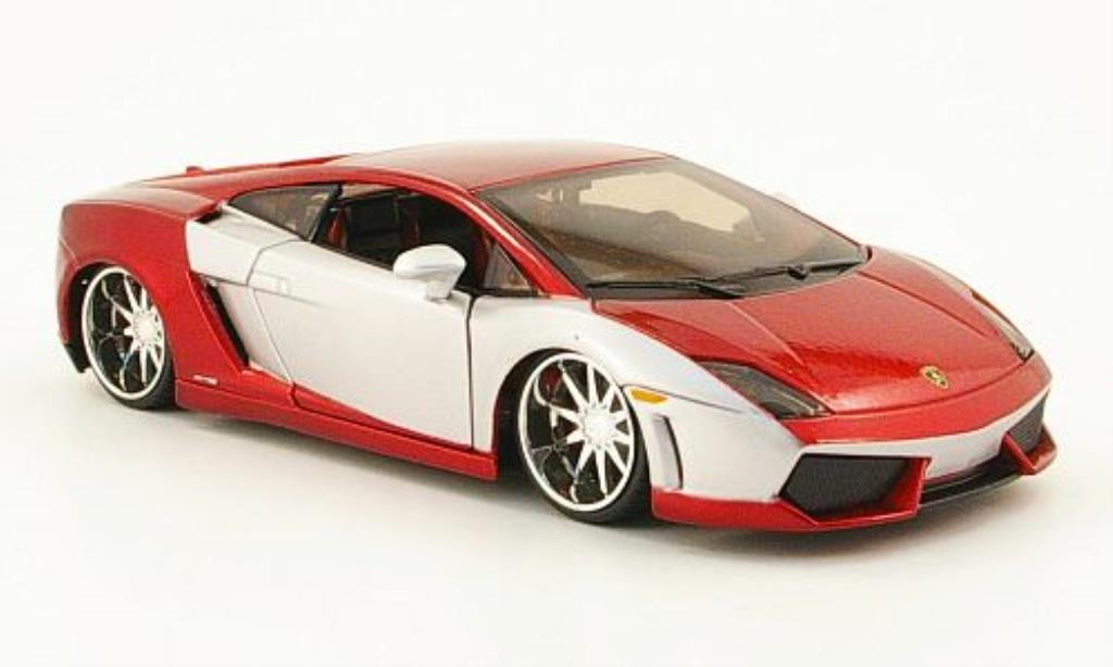 Lamborghini Gallardo LP560-4 1/24 Maisto rosso/grigia Tuning miniatura