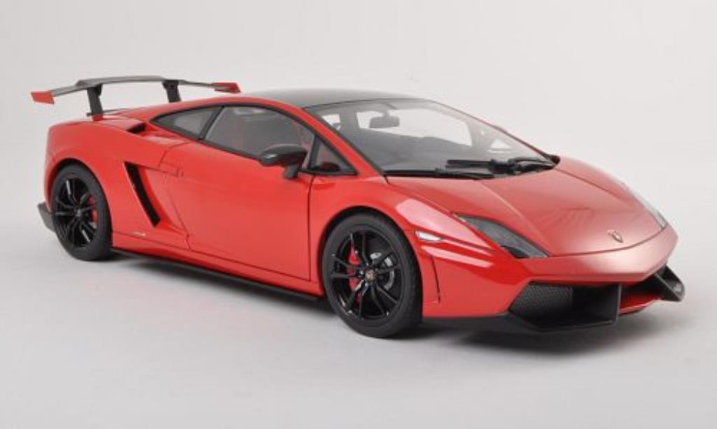 Lamborghini Gallardo 1/18 Autoart LP570 Supertrofeo Stradale rouge/noire 2011 miniature