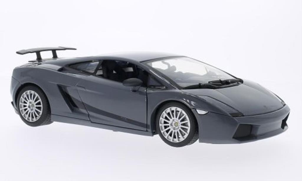 Lamborghini Gallardo Superleggera 1/18 Motormax grise/noire miniature