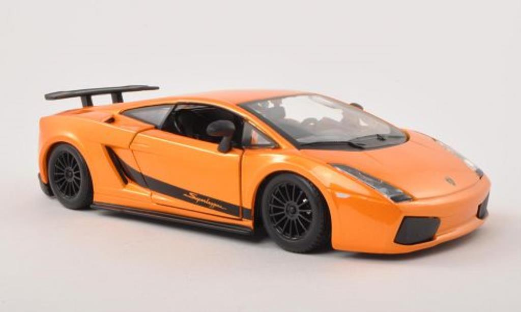 Lamborghini Gallardo Superleggera 1/24 Burago orange 2003 miniature