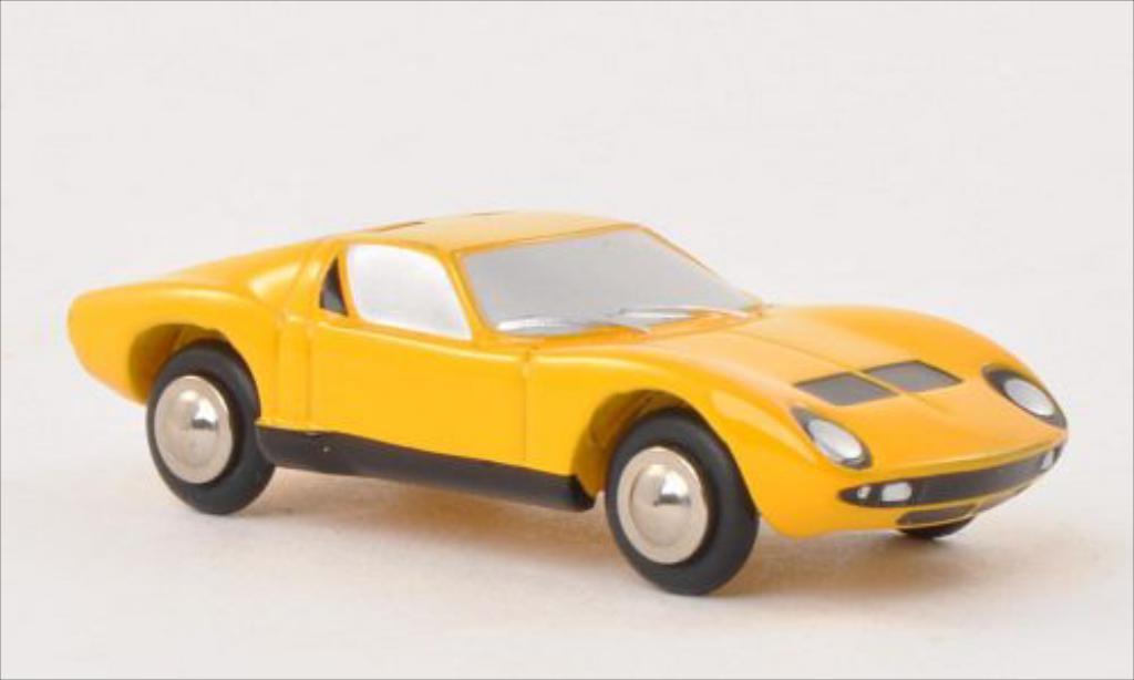 Lamborghini Miura 1/90 Schuco yellow diecast