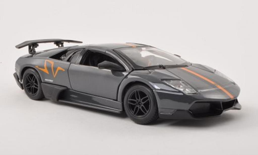 Lamborghini Murcielago LP670-4 1/24 Burago SV grey/orange/black diecast model cars