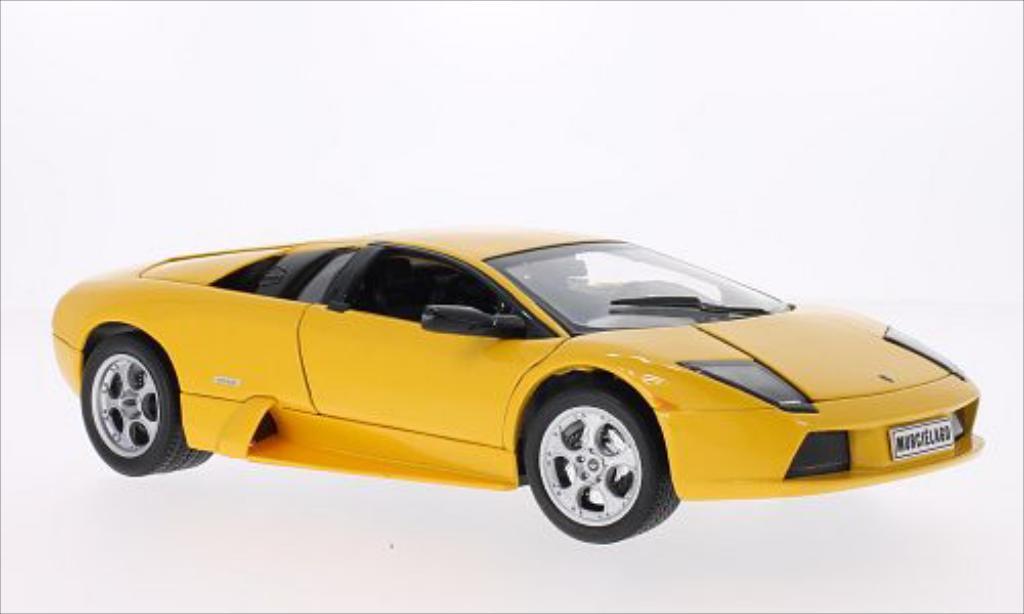 Lamborghini Murcielago 1/18 Welly metallise jaune miniature