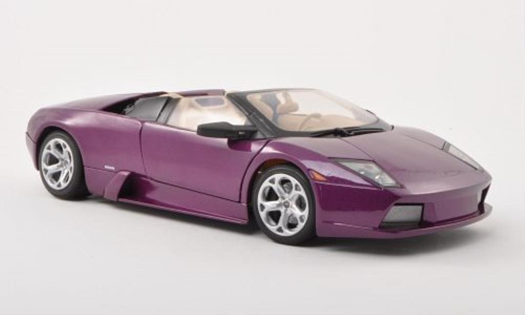 Lamborghini Murcielago Roadster 1/18 Motormax lila diecast model cars