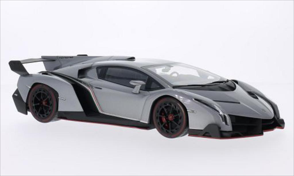 Lamborghini Veneno 1/18 Kyosho metallic-grise/rouge miniature
