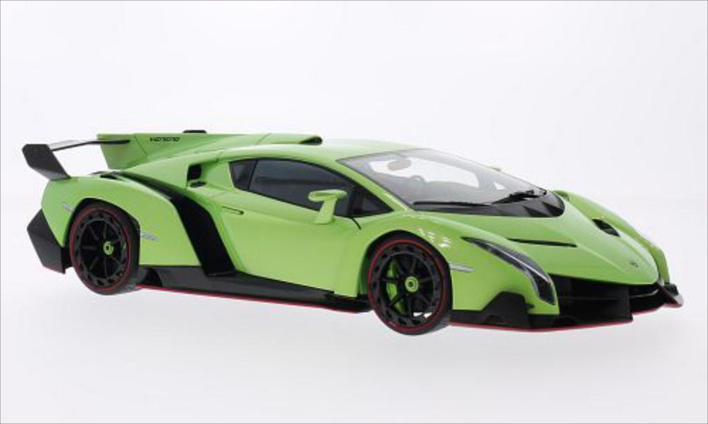 Lamborghini Veneno 1/18 Autoart metallic-verte 2013 miniature