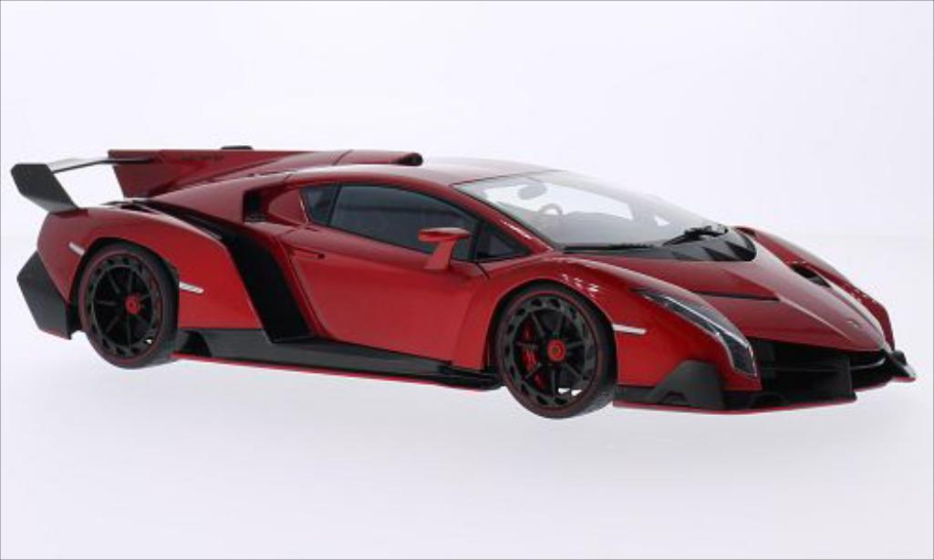 Lamborghini Veneno 1/18 Autoart metallise red 2013 diecast model cars