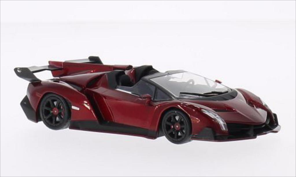 Lamborghini Veneno 1/43 WhiteBox Roadster metallic-rosso 2013 miniatura