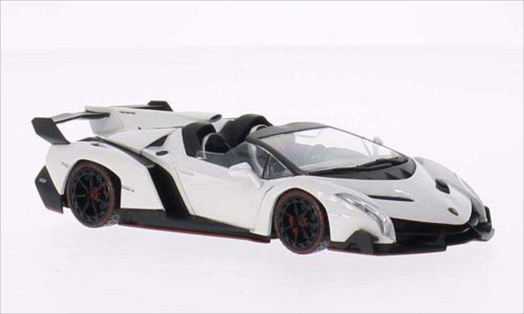 Lamborghini Veneno 1/43 Kyosho Roadster white/red diecast model cars