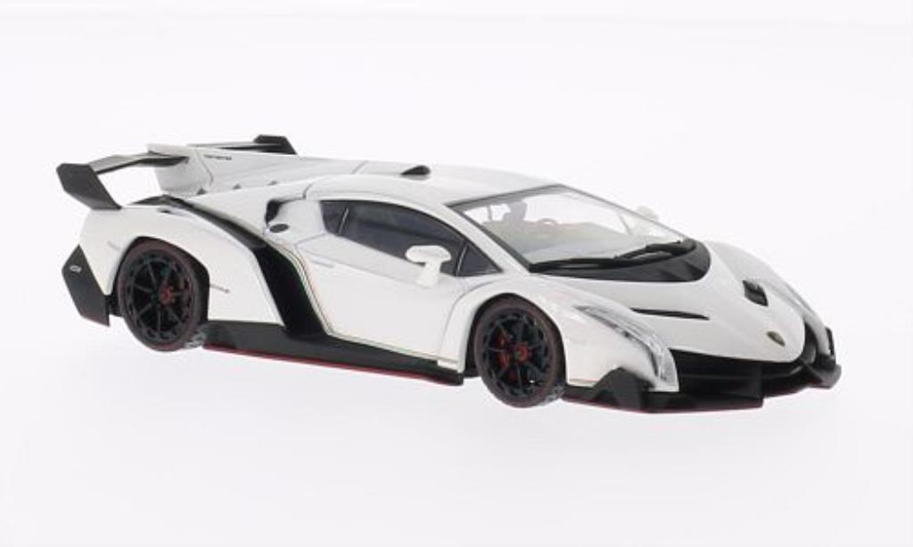 Lamborghini Veneno 1/43 Kyosho blanche mit rougeem Dekorstreifen miniature