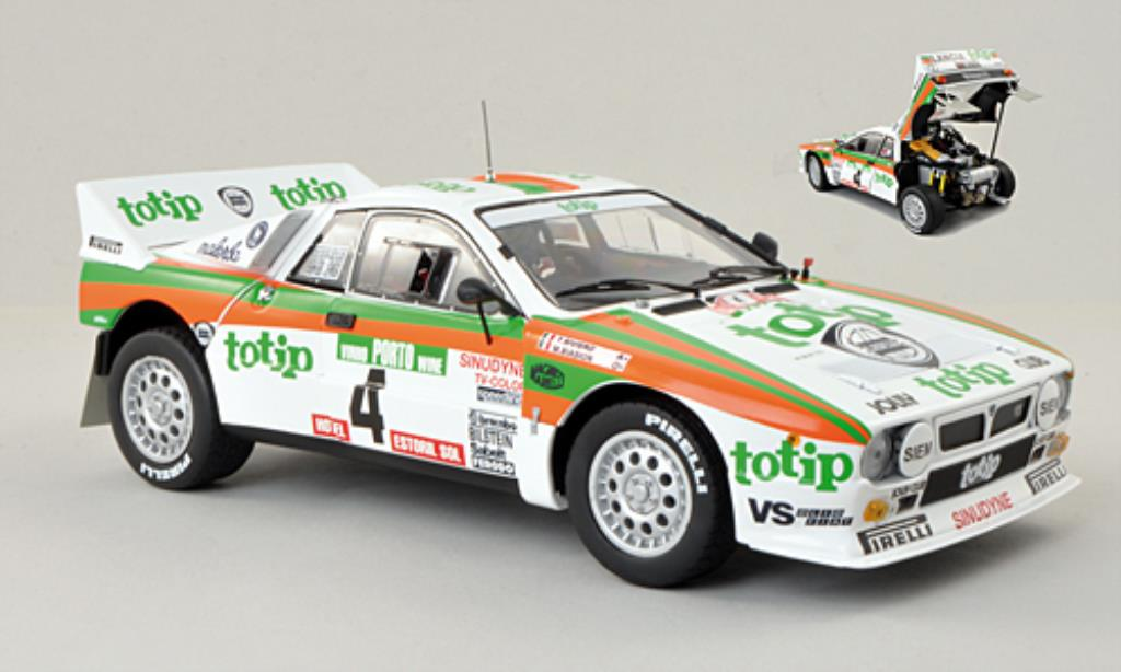 Lancia 37 1/18 Kyosho No.4 Totip Rally Portugal 1985 /T.Siviero miniature