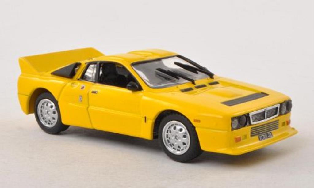 Lancia 37 1/43 Vitesse Stradale jaune 1982 miniature