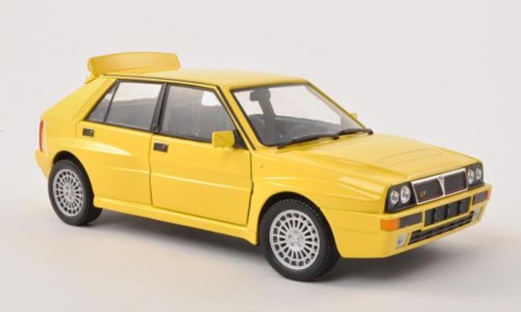 Lancia Delta 1/24 Burago HF Integrale EVO jaune miniature