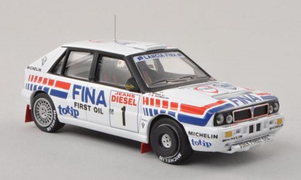 Lancia Delta 1/43 IXO Integrale 16V No.1 Fina Rally San Remo 1991 /B.Occelli miniatura