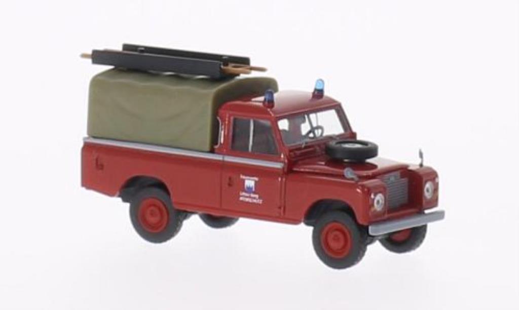 Land Rover 109 1/87 Brekina Plane Feuerwehr Littau Berg (CH) miniature