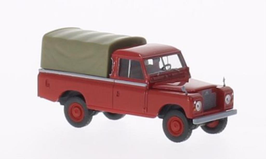 Land Rover 109 1/87 Brekina Plane rouge mit Plane miniature