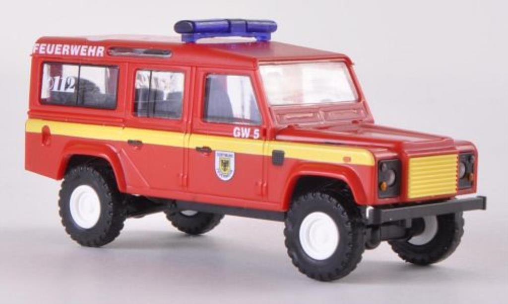 Land Rover Defender 1/87 Busch 110 SW Feuerwehr Dortmund 1983 modellino in miniatura
