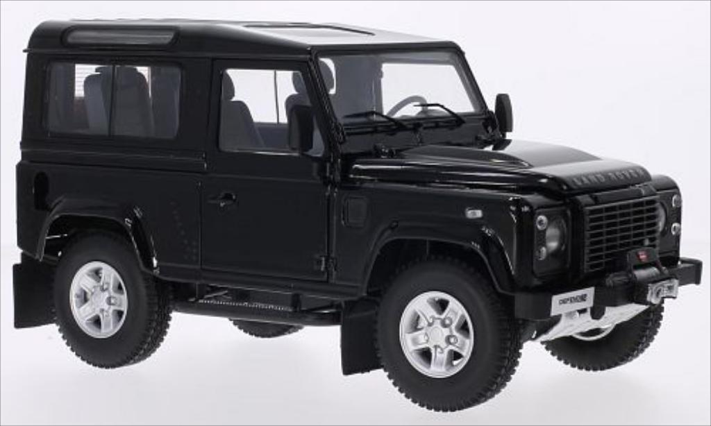 Land Rover Defender 1/18 Kyosho 90 metallise black diecast model cars