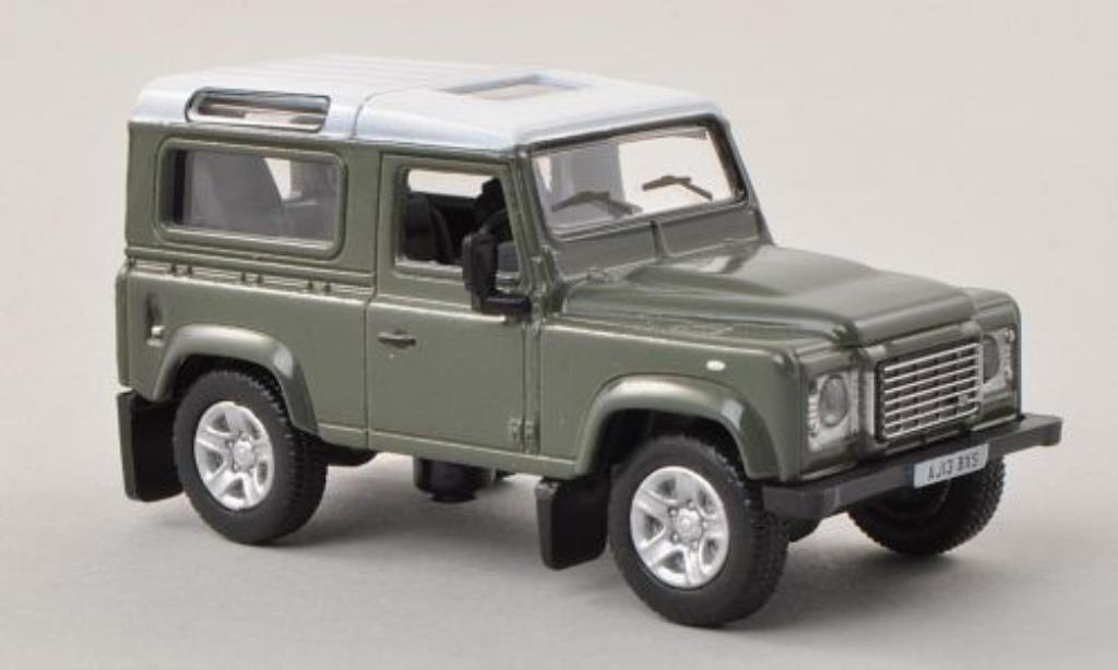 Land Rover Defender 1/76 Oxford 90 Station Wagon grise/blanche miniature