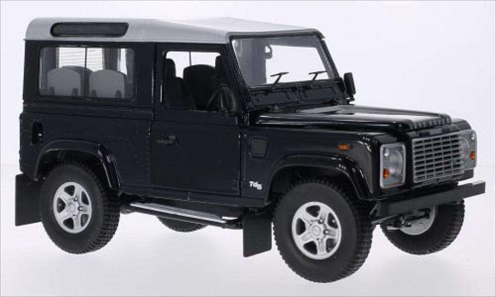 Land Rover Defender 1/18 Universal Hobbies 90 Station Wagon metallise bleu/grise RHD miniature