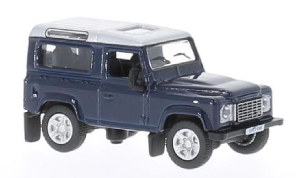 Land Rover Defender 1/76 Oxford bleu/grise 2013 miniature